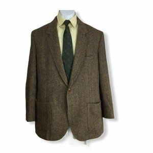 Cotler Mens Two Button Sport Coat Brown 100% Wool